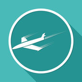 Airplane, air travel symbol — Wektor stockowy