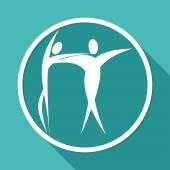 Dancer couple icon — Stock Vector