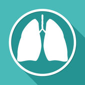 Icon of Lungs, medicine — Stock Vector