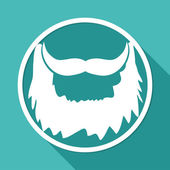 Icon of male beard — Stock Vector