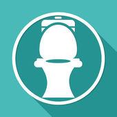 Icon of wc, Toilet — Stock Vector