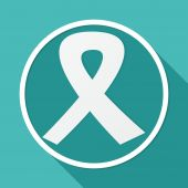 Icon of Breast cancer Ribbon — Vector de stock