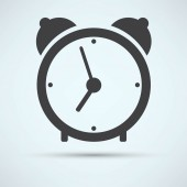 Alarm clock, time icon — Stock Vector