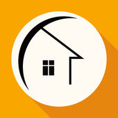 Icon of house, real estate — Stock Vector
