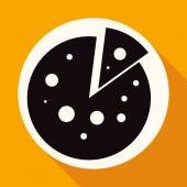 Pizza slice, food icon — Vector de stock