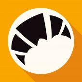 Brood, croissants pictogram — Stockvector