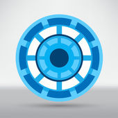 Cyber eye symbol icon — Stock Vector