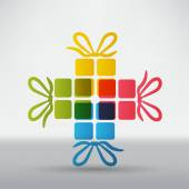 Gift boxes icon — Stock Vector