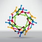 Molecules, science icon — Stock Vector