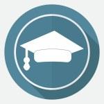 Icon of Graduation cap — Stock Vector #77202461