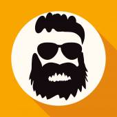 Icon of man with  beard — Stock Vector