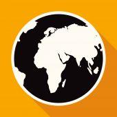 Earth, globe icon — Stock Vector