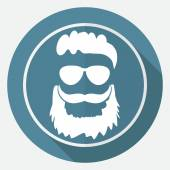 Beard, barber, hipster icon — Stock Vector