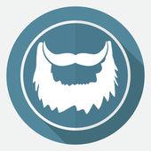 Ikonen för skägg, hipster, mode — Stockvektor