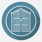 Icon of gate, fence — Stock Vector