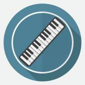 Piano Icon on white circle — Stock Vector