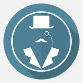 Bowler hat and moustache — Stock Vector
