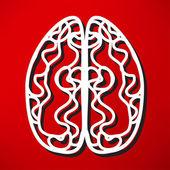 Icon of brain, mind, thinking — Stock Vector