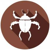 Icon of bug, insect — Stock Vector