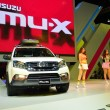 Постер, плакат: NONTHABURI DECEMBER 1: Isuzu mu X SUV car display at Thailand