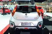 NONTHABURI - DECEMBER 1: MG 3 X-cross car display at Thailand In — Fotografia Stock
