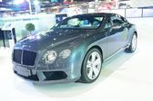 NONTHABURI - DECEMBER 1: Bentley Continental GT V8 car display a — Stock Photo