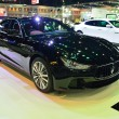 Постер, плакат: NONTHABURI DECEMBER 1: Maserati Ghibli car display at Thailand