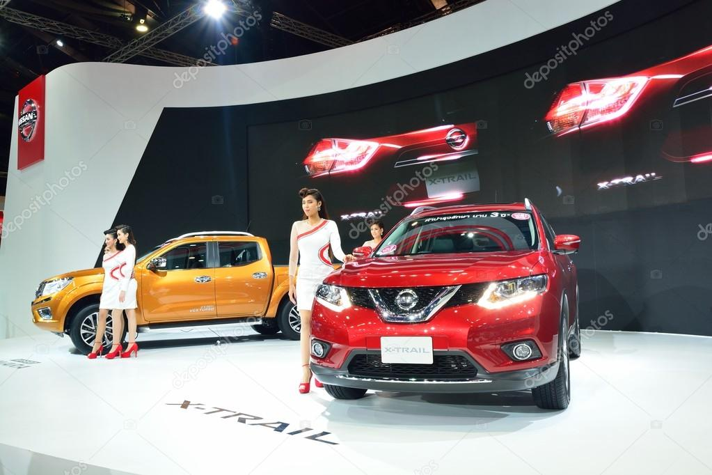 NONTHABURI - DECEMBER 1: Model Poses with New Nissan car