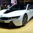 Постер, плакат: NONTHABURI DECEMBER 1: New BMW I8 Sports car display at Thaila