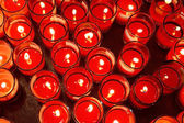 Red Candle in the Glass — Stock Photo
