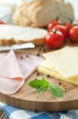 Sandwich preparation — Stock Photo