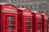 London red telephone boxes — Foto Stock