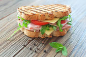 Grilled sandwich — Stock Photo