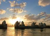 London River Thames barrier — Stockfoto