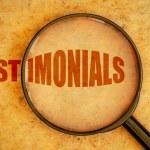 Testimonials word — Stock Photo #56143565