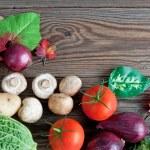 Organic autumn groceries — Stock Photo #56143609