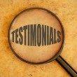 Testimonials word — Stock Photo #56143669