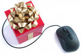 Computer mouse gift  — Stock Photo
