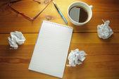 Schrijvers blok — Stockfoto