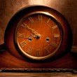 Antique wooden clock — Stock Photo #60114975