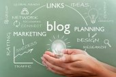 Blog word cloud — Stock Photo