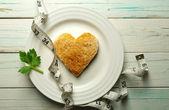 Heart shape toast — Stock Photo