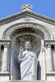 Rzeźba chrystusa jezusa w basilique du sacré coeur w paryżu — Zdjęcie stockowe