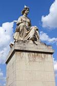 Statue on Pont du Carrousel in Paris — Stock Photo