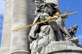 Statue on Pont Alexandre III — Stock Photo