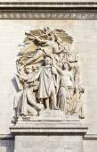 Sculptural Detail on the Arc de Triomphe in Paris — Stock Photo