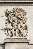 Sculptural Detail on the Arc de Triomphe in Paris — Stock Photo