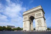 Arc de Triomphe in Paris — Stock Photo