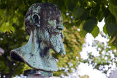 Bust of Edouard Manet on his Grave in Passy Cemetery — Foto Stock