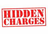 HIDDEN CHARGES — Stock Photo